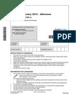 79733 Question Paper Unit f321 Atoms Bonds and Groups