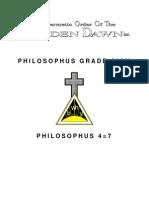 GOLDEN DAWN 4=7 Philosophus Grade Sign