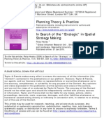 HEALEY, Patsy - In Search of Strategic in Spatial Strategic Making
