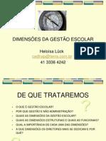 Dimensões da gestão escolar (apresentação) - Heloísa Lück