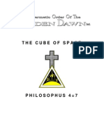 GOLDEN DAWN 4=7 The Cube of Space