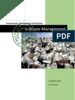 E-Waste Management Term Paper