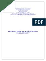 Proyecto Comunitario Socio Juridico V