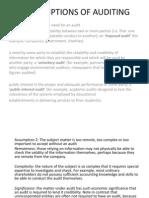 Assumptions of Auditing