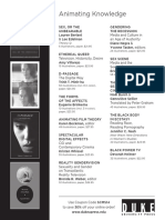 Duke University Press Program Ad for the Society for Cinema and Media Studies 2014