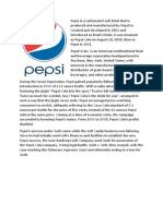 Manufacturing Process Comparisons Between Pepsi and Coca-Cola