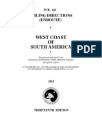 Pub. 125 West Coast of South America (Enroute), 13th Ed 2013