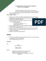 Miniprojct Report Format