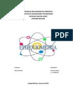 Trabajo de Quimina Estequiometria