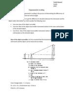 Trigonomertic Surveying
