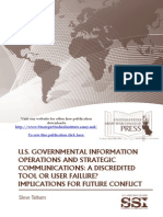 U.S. Governmental Information Operations and Strategic Communications