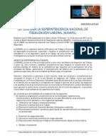 15-01-13_BOLETIN - Creación de la Superintendencia Nacional de Fiscalización Laboral (SUNAFIL)