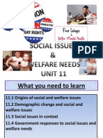 social issues  welfare needs