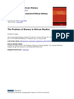 Cooper, The Problem of Slavery in African Studies
