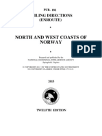 Pub. 182 North and West Coasts of Norway (Enroute), 12th Ed 2013