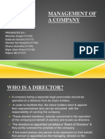 management of a company