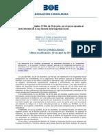Rdl 1 1994 Ley Seguridad Social Consolidado