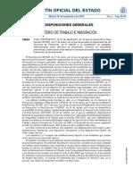 Orden desarrollo Reglamento Servicios Prevención