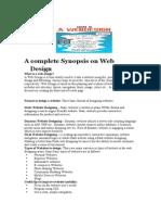 Synopsis on Web Design