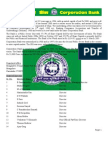analysis of financial statement of Corporation Bank