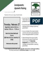 Empowering Grandparents Event - Assisting Grandparents Raising Grandchildren