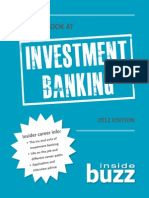 An Inside Look at Investment Banking 2012 Edition