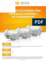 Motores Trifásicos Fechados IP44 - TEFC SFr