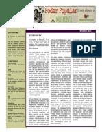 Boletín Poder Popular en Movimiento  Enero 2014