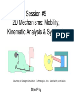 Elements of Mechanical Design - Mechanisms (2D Kinematic Analysis)
