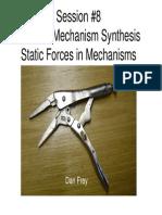 Elements of Mechanical Design - Mechanisms (Forces in 2D Mechanisms)