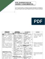 Cartel de capacidades y conocimientos de Comunicación 2º