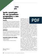 Jornalismo comunitário- uma reinterpretação da mídia - pela construção de um jornalismo pragmático e não dogmático