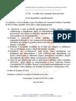 CPC - PS-Covilhã  Carta de despedida e agradecimento