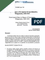 Knabenschuh, S - Del espacio lógico a los espacios de incertidumbre - 2001
