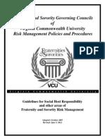Governing Council Risk Management Guidelines - 2012-2013