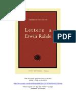 160474968 Friedrich Nietzsche Lettere a Erwin Rohde