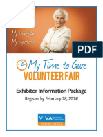 V!VA Thornhill Woods My Time to Give Exhibitor Package