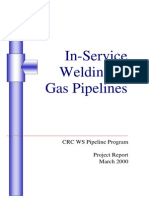 RSC - In Service Welding on Gas Pipelines - Part 1 - Michael Painter Final Report 01 Jun 2000