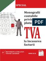 Raport Special Monografii Contabile Privind Plata TVA La Incasarea Facturii