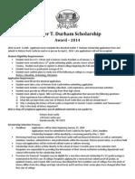 walter durham - rock castle scholarship