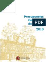 Prespuestos Generales del Estado (Proyecto 2010)