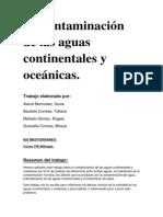 La contaminación de las aguas continentales y oceánicas