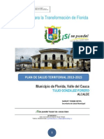 Plan Territorial de Salud 2012 2015 Florida