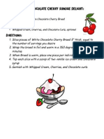 White Chocolate Cherry Sundae Recipe