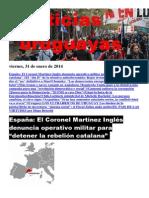 Noticias Uruguayas Viernes 31 de Enero Del 2014