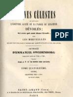 Em Swedenborg ARCANES CELESTES TomeQuatorzieme 2sur2 Exode XXIV XXV Numeros 9363 9584 LeBoysDesGuays 1852