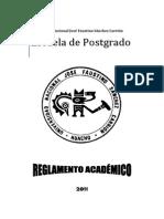 Reglamento Academico 2011 Escuela Postgrado