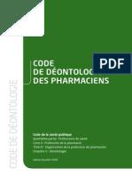 Ciopf Code de Deontologie France