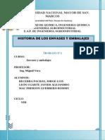 Histroria Del Envase- Trabajo 1