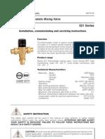 Caleffi 3-Way Mixing Valves 521 Installation Manual